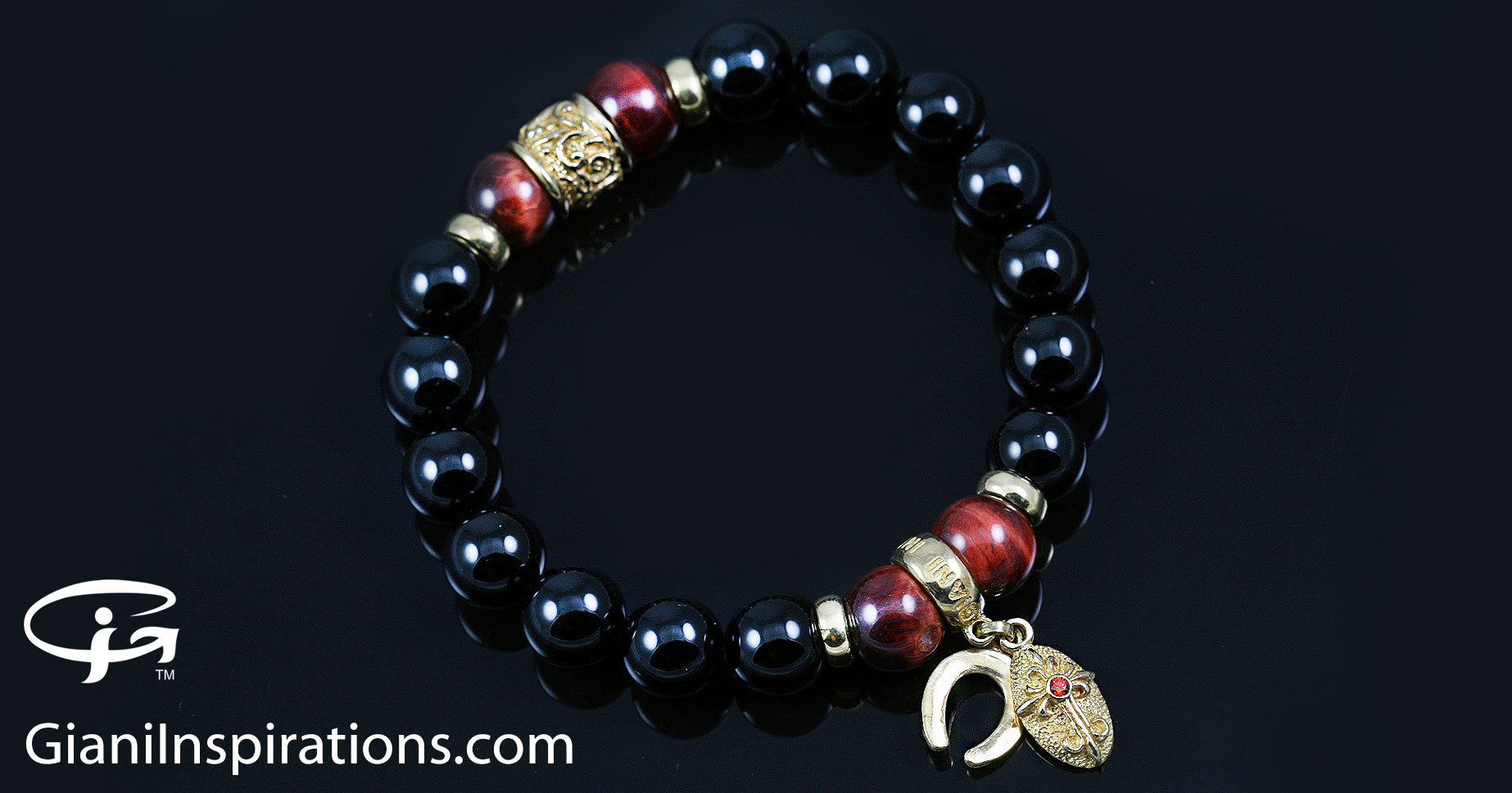 stretch products lion bracelet marble bead head luxury agate beads strecth