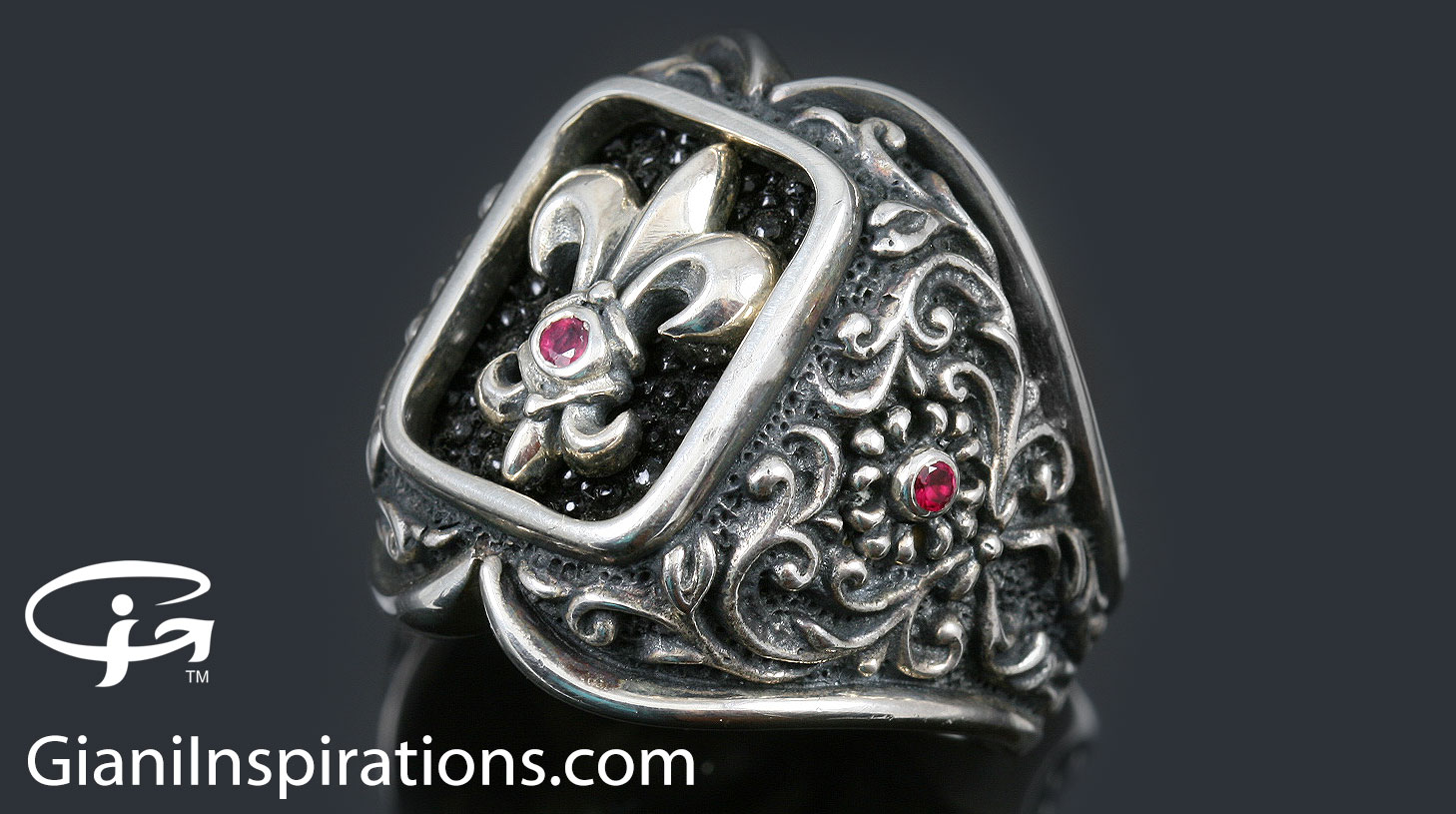 ludovic baroque style silver ring mr 024s