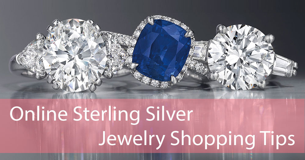 Online shopping silver ring