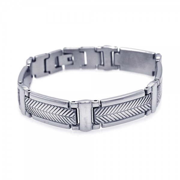 Stainless Steel Hammered Bracelet SSSB00041