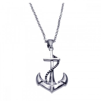 Sterling Silver Anchor Necklace SBGP00180
