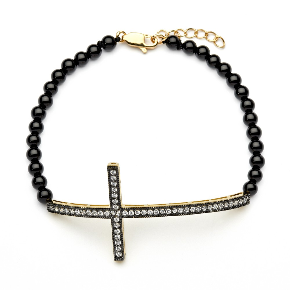 dura products collections pedra gold all black bracelet