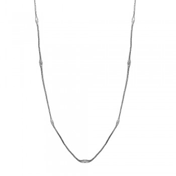 Sterling Silver Black Rhodium Plated Mystical Chain Italian Necklace - ITN00051BLK