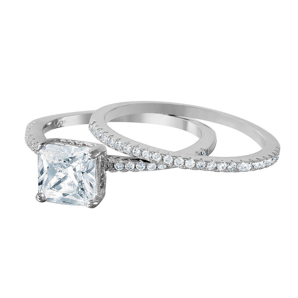 diamond cut rings antique square engagement at platinum ring setting