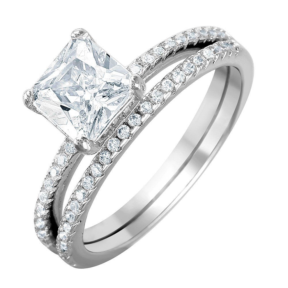 promise outstanding diamond rings silver engagement wedding