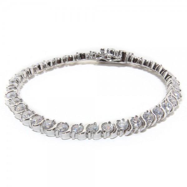 Sterling Silver Clear CZ Tennis Bracelet SBBB00006