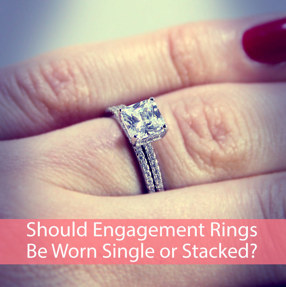 Should Sterling Silver CZ Engagement Rings Be Worn Single or Stacked?