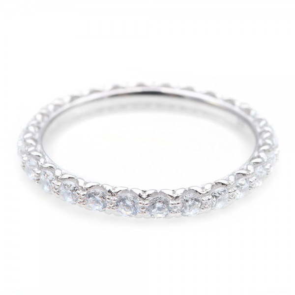 Sterling Silver CZ Eternity Band SGMR00066RH