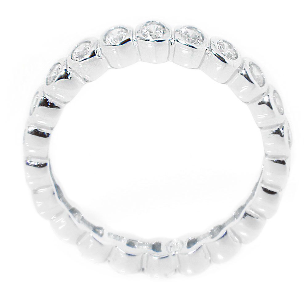 Sterling Silver CZ Stackable Eternity Band SSTR00215