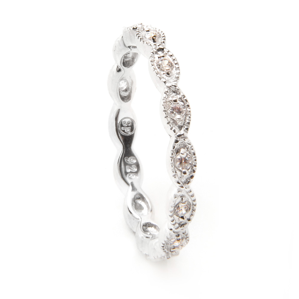 Sterling Silver CZ Stackable Eternity Ring SSTR00542