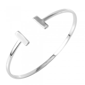 Sterling Silver Double Bar Cuff Bracelet SBGB00249