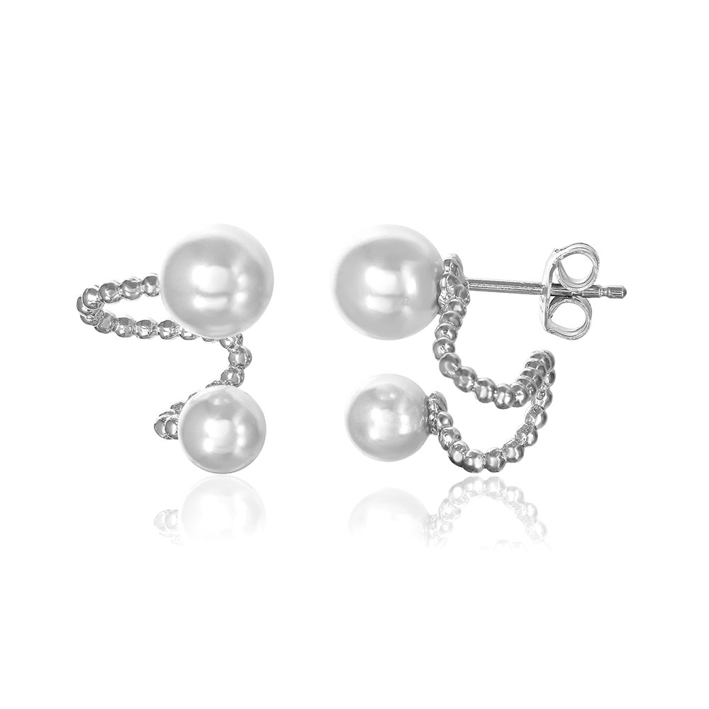 Sterling Silver Pearl Ear Jackets SGME00042RH