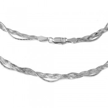 Sterling Silver Italian Entangling Braid Necklace SDIN00003RH