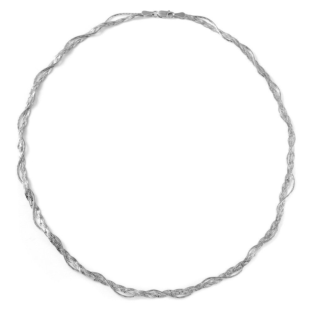 Sterling Silver Italian Entangling Braid Necklace SDIN00003RH