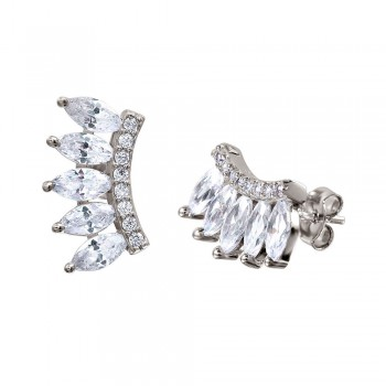 Sterling Silver Marquise Climber Earrings SSTE01030