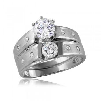Sterling Silver Matte Finish Wedding Ring SGMR00114RH
