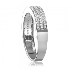 Sterling Silver Multi Row Men's Wedding Band SGMR00123RH
