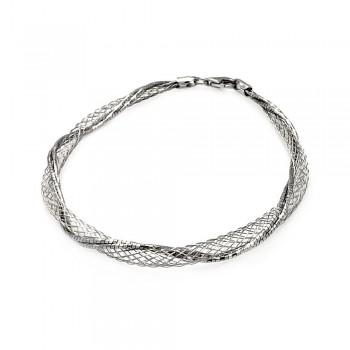 Sterling Silver Net Wrap Bracelet SITB00111RH