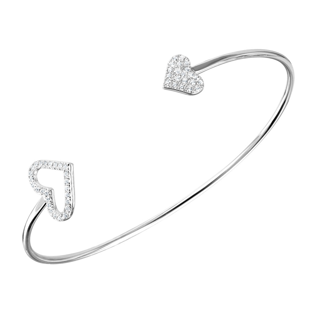 diamond bangles sterling bracelet studded collections silver jewelry products open nicolehd bangle