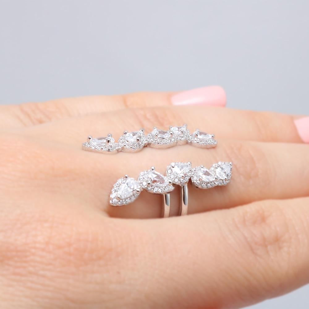Sterling Silver Open Leaf Ring SGMR00063RH