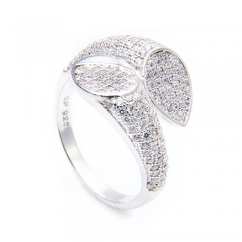 Sterling Silver Overlapping Leaves Ring SSTR00928