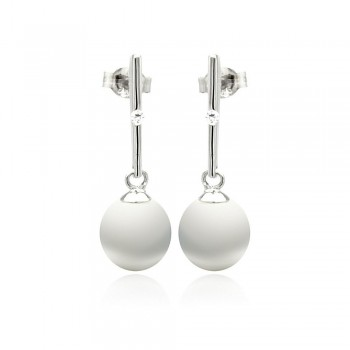 Sterling Silver Pearl Drop Earrings SSTE00881
