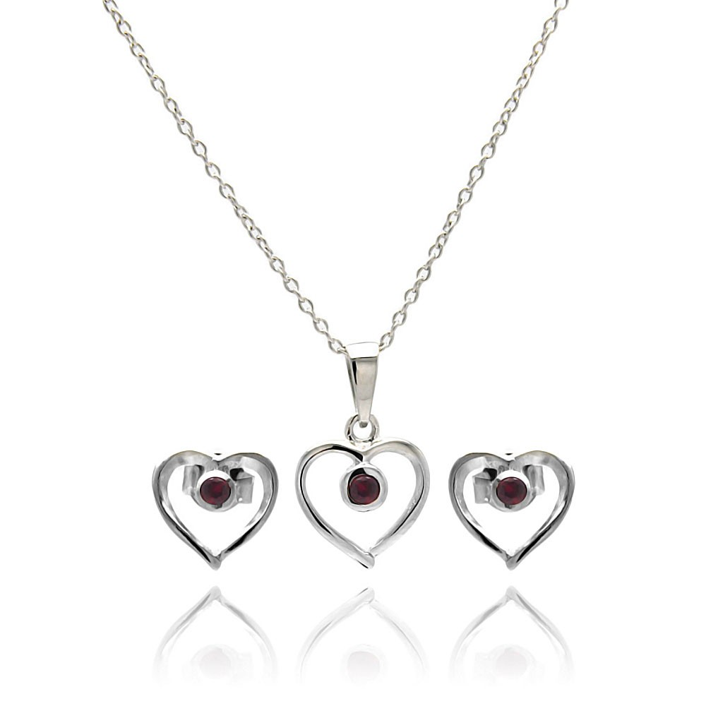 c59b02c5a Silver Heart Earrings And Necklace Set - Best All Earring Photos ...