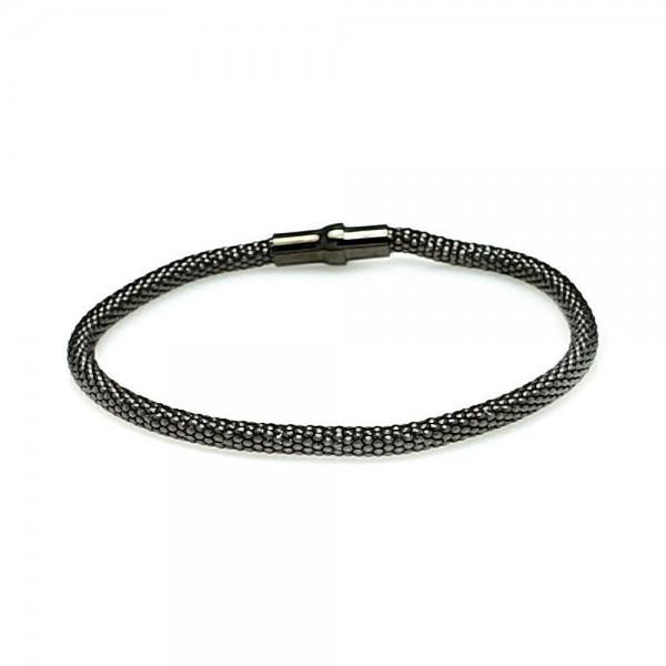 Sterling Silver Snake Scale Bracelet SITB00005BLK