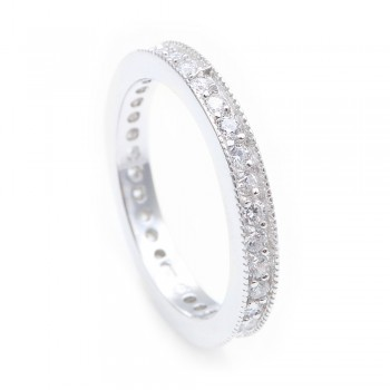 Sterling Silver Stackable CZ Eternity Band SBGR00567