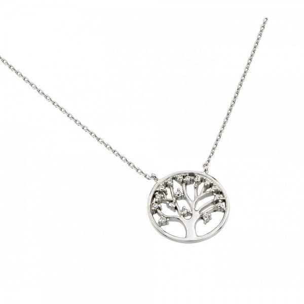 Sterling Silver Tree of Life Pendant Necklace SSTP01378