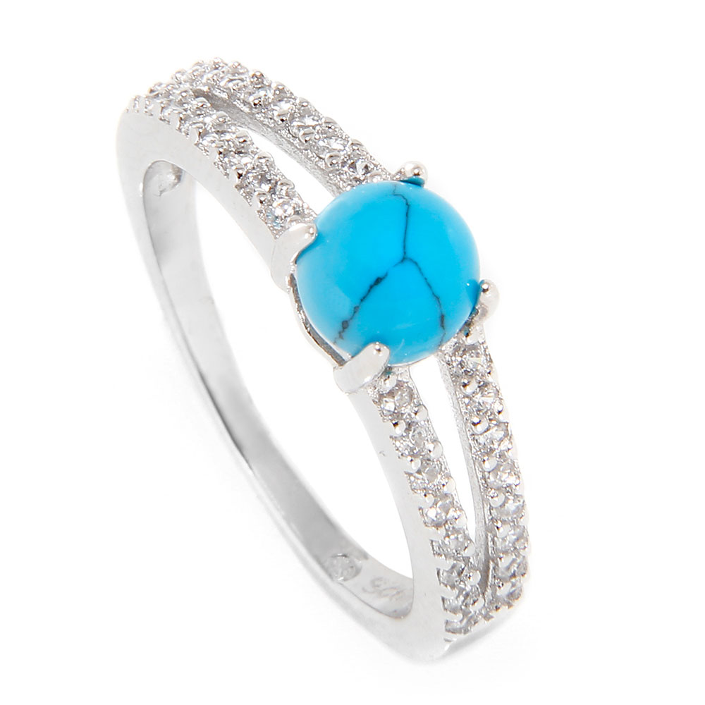 silver sterling jewellery home drim laon stone turquoise ring rings